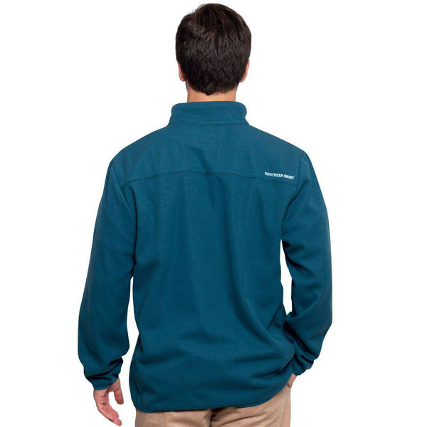 Keeler 1/4 Zip Pullover in Indian Teal by The Southern Shirt Co.