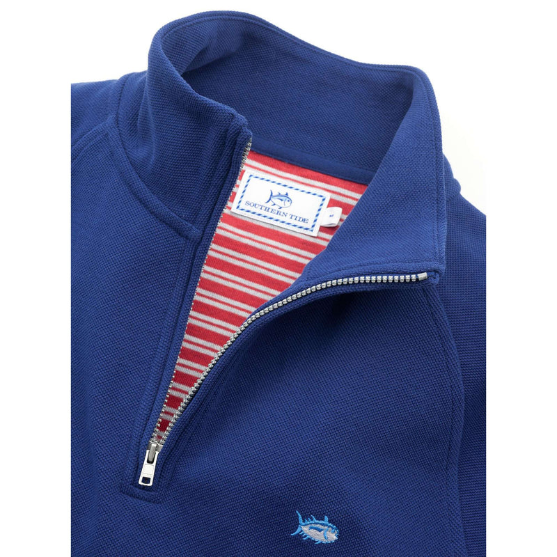 Key Bridge 1/4 Zip Pullover in Blue Depths by Southern Tide