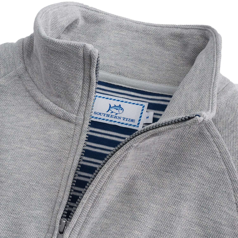Key Bridge 1/4 Zip Pullover in Oyster Grey by Southern Tide