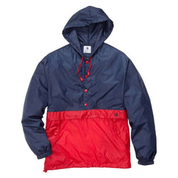 Men's Outerwear - Labrador Pullover In Red/Navy By Southern Proper