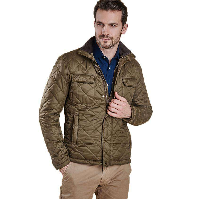 Barbour Laggan Quilted Jacket In Olive Country Club Prep