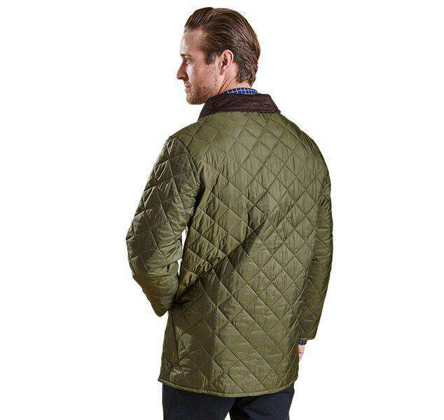 Barbour Liddesdale Quilted Jacket In Olive Country Club Prep