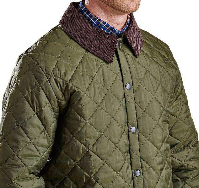 Liddesdale Quilted Jacket in Olive by Barbour