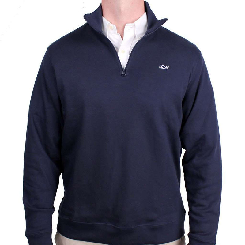 Men's Outerwear - Limited Edition Jersey 1/4 Zip In Navy By Vineyard Vines