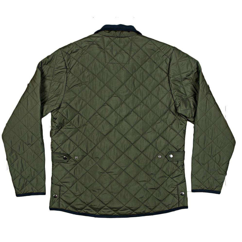 Marshall Quilted Jacket in Dark Green by Southern Marsh