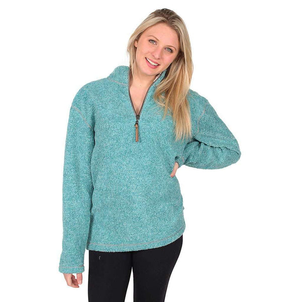 Melange Blanket Pullover in Aqua by True Grit - FINAL SALE