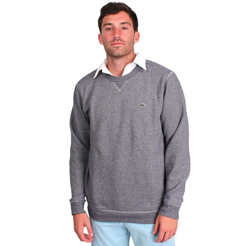 Men's Outerwear - Men's Crewneck Sweatshirt In Grey By Lacoste