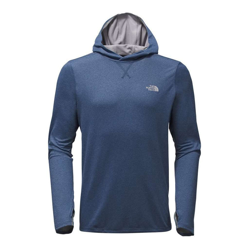 Men's Outerwear - Men's Reactor Hoodie In Shady Blue Heather By The North Face - FINAL SALE