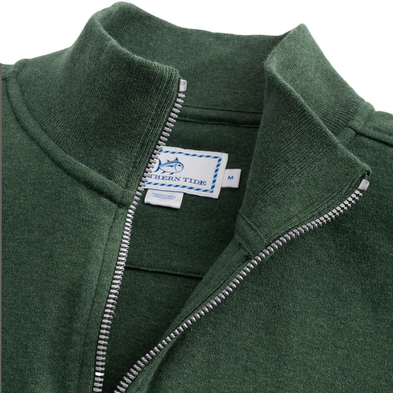 Newport Heather Lightweight 1/4 Zip Pullover in Pineneedle Green by Southern Tide