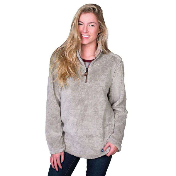 Men's Outerwear - Pebble Pile Pullover 1/2 Zip In Faded Heather By True Grit