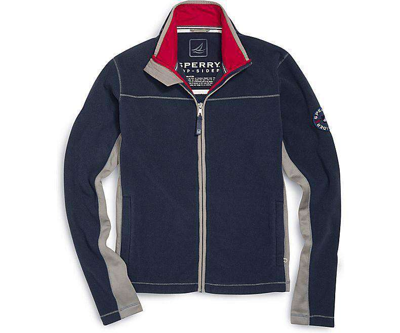 Men's Outerwear - Polar Fleece Jacket In Navy By Sperry