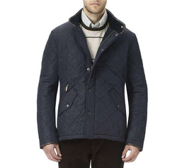 Men's Outerwear - Powell Quilted Jacket In Navy By Barbour