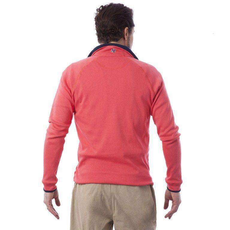 Men's Outerwear - Quarterboard Zip In Island Red By Castaway Clothing - FINAL SALE
