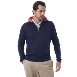 Men's Outerwear - Quarterboard Zip In Nantucket Navy By Castaway Clothing - FINAL SALE