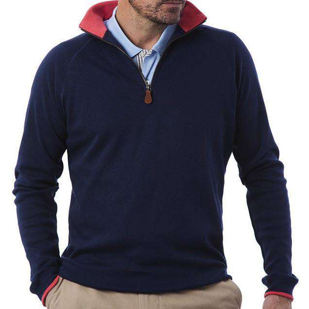Quarterboard Zip in Nantucket Navy by Castaway Clothing - FINAL SALE