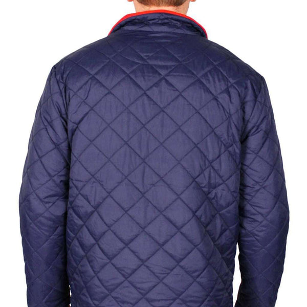 Southern Proper Quilted Full Zip Jacket In Navy Country