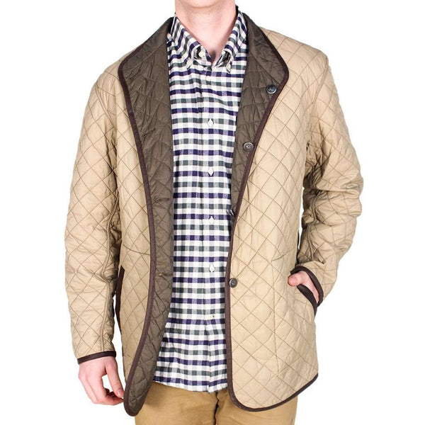 Quilted Reversible Jacket in Olive Green & Khaki by Madison Creek Outfitters - FINAL SALE
