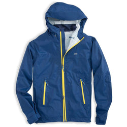 Men's Outerwear - Santee Rain Slick In Blue Lake By Southern Tide
