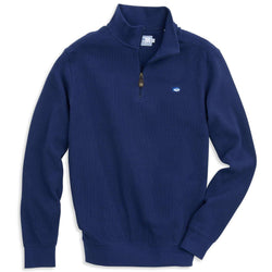 Men's Outerwear - Skipjack 1/4 Zip Pullover In Blue Depths By Southern Tide