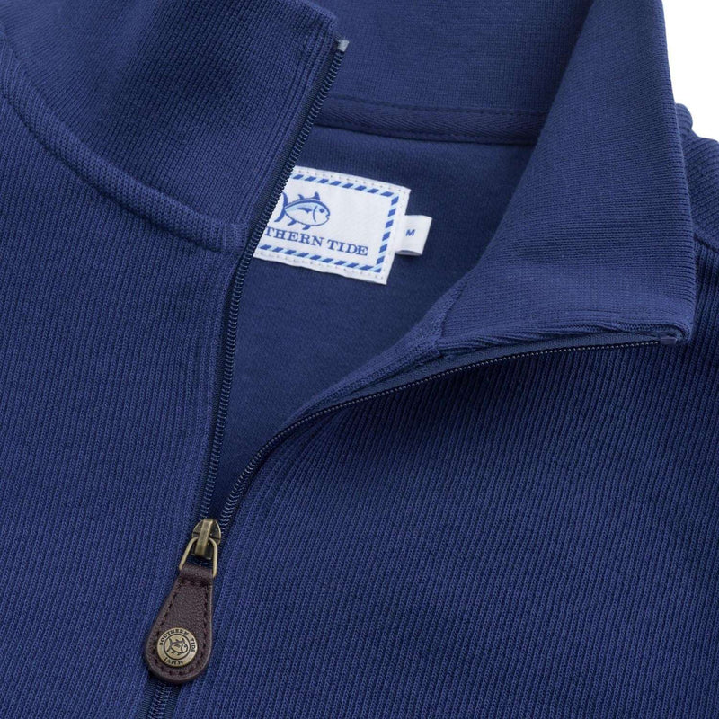 Skipjack 1/4 Zip Pullover in Blue Depths by Southern Tide
