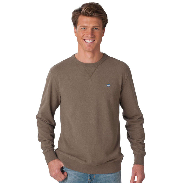 Men's Outerwear - Skipjack Heathered Upper Deck Pullover In Burlewood By Southern Tide