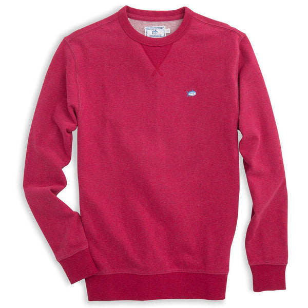 Men's Outerwear - Skipjack Heathered Upper Deck Pullover In Sangria By Southern Tide
