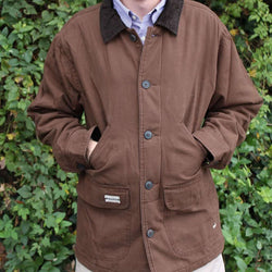 Station Canvas Jacket in Dark Brown by Southern Marsh
