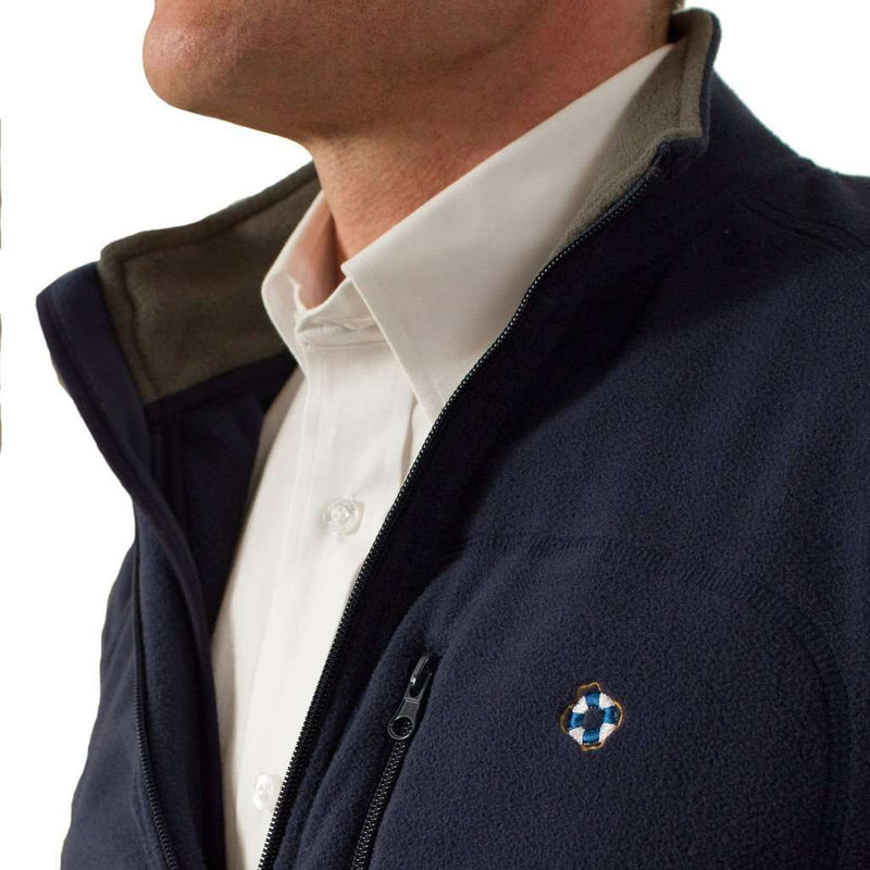 Tidal Fleece Jacket in Navy by Castaway Clothing - FINAL SALE
