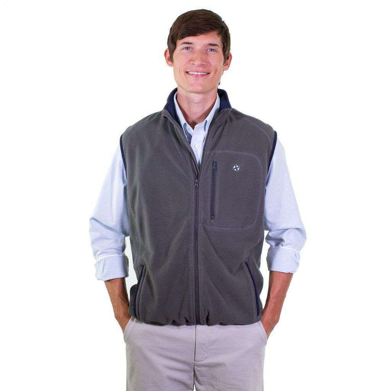 Men's Outerwear - Tidal Fleece Vest In Smoke By Castaway Clothing