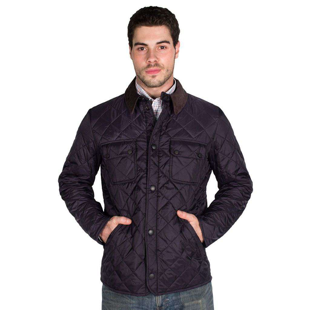 Barbour Tinford Quilted Jacket in Navy – Country Club Prep : quilted jackets mens - Adamdwight.com