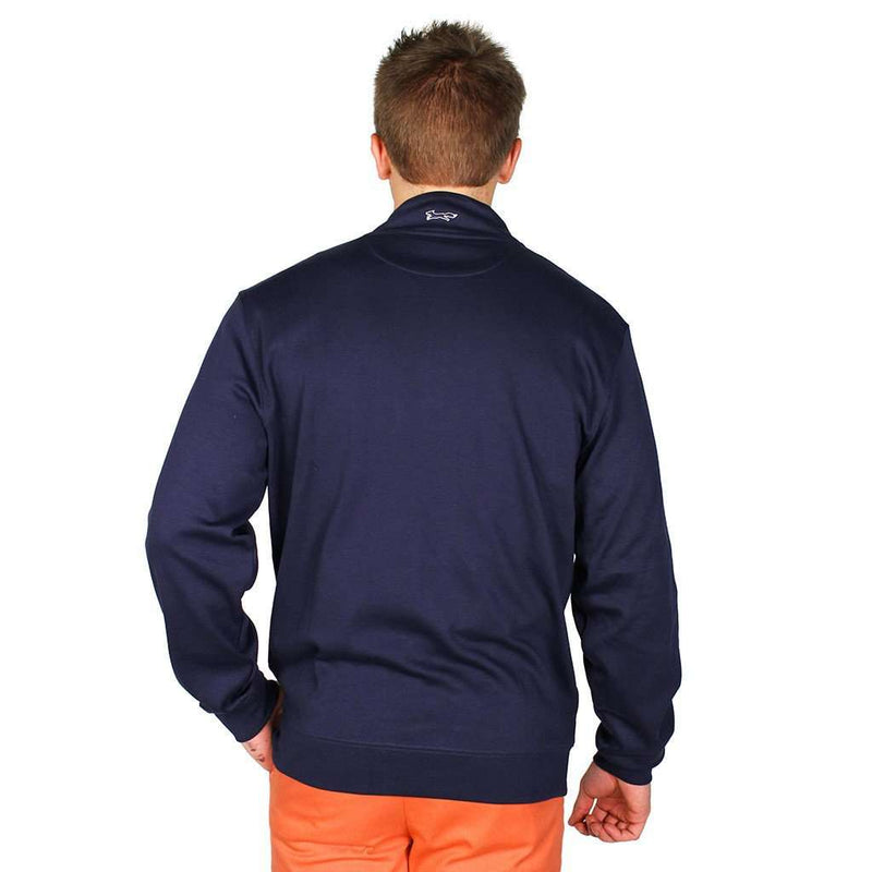 Whale and Longshanks Jersey 1/4 Zip in Blue Blazer (Navy) by Vineyard Vines