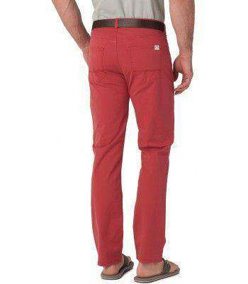 5 Pocket Tailored Fit Chino Pant in Nantucket Red by Southern Tide