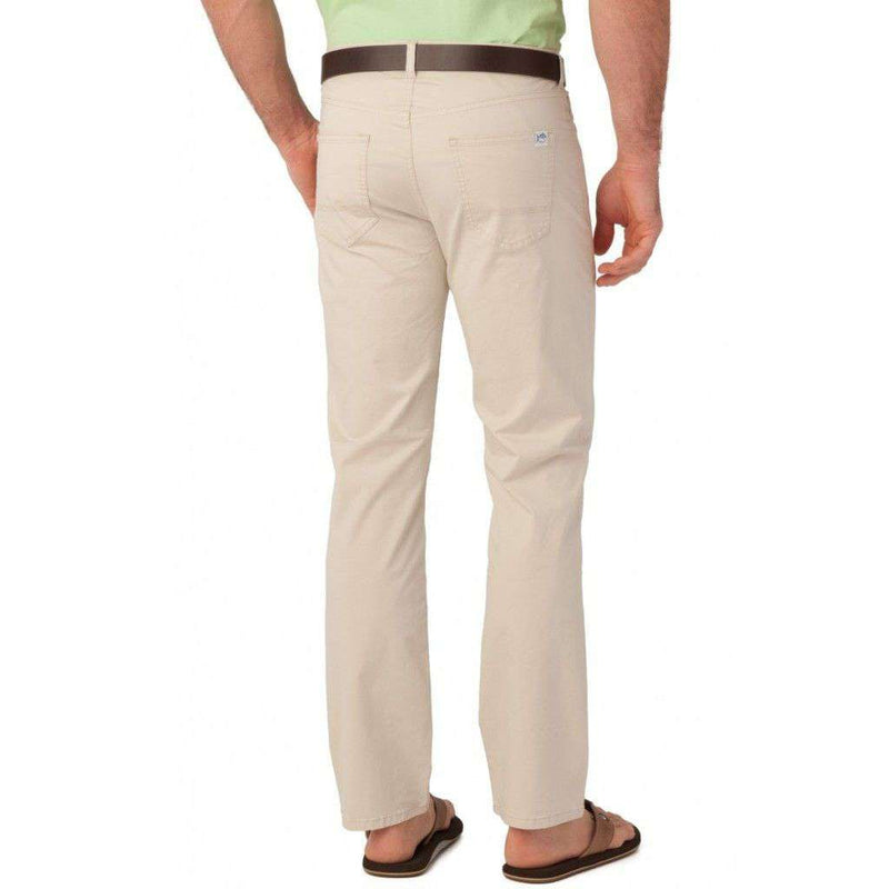 5 Pocket Tailored Fit Chino Pant in Stone by Southern Tide