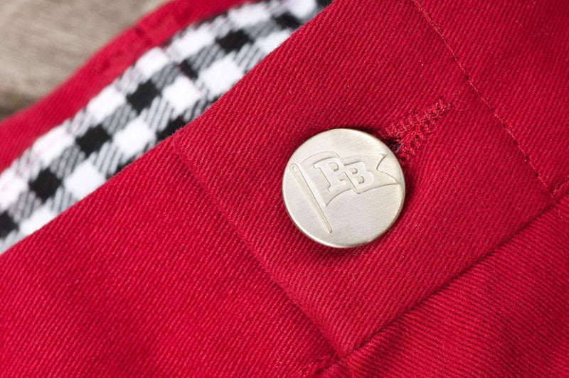 Alabama Stadium Pant in Crimson by Pennington & Bailes