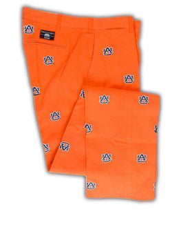 Men's Pants - Auburn Stadium Pant In Orange By Pennington & Bailes