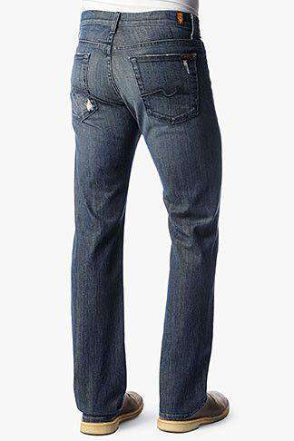 Men's Pants - Austyn Relaxed Straight Leg Jean In Melbourne By 7 For All Mankind - FINAL SALE
