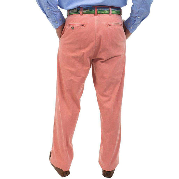 Men's Pants - Authentic Nantucket Red Plain Front Pants By Murray's Toggery