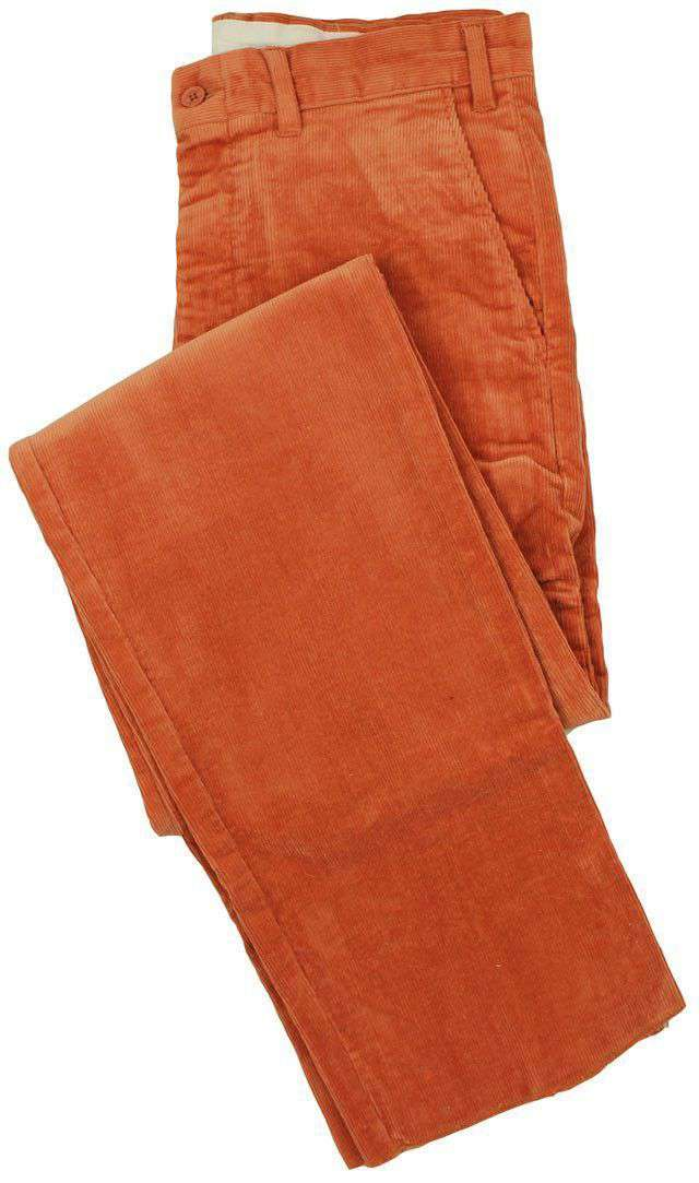Men's Pants - Beachcomber Corduroy Pants In Nantucket Red By Castaway Clothing