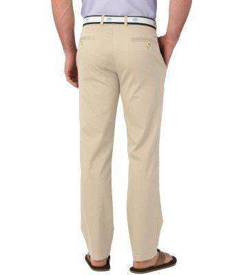 Men's Pants - Channel Marker II Classic Fit Pants In Stone By Southern Tide