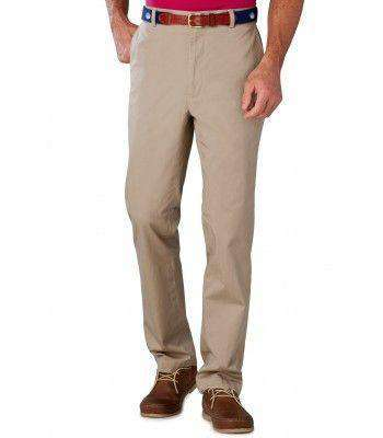 Men's Pants - Channel Marker II Tailored Fit Pants In Khaki By Southern Tide