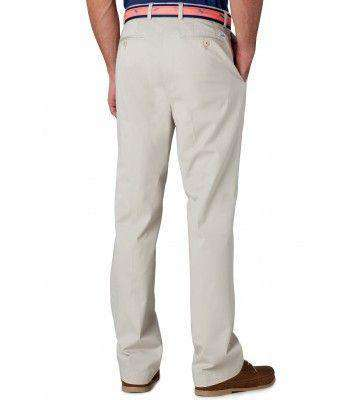 Men's Pants - Channel Marker II Tailored Fit Pants In Stone By Southern Tide