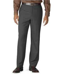 Men's Pants - Flat Front Dress Trousers In Charcoal By Ralph Lauren - FINAL SALE