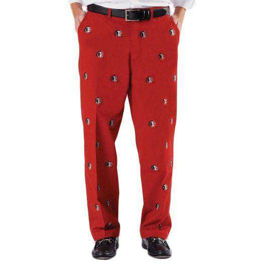 Florida State Stadium Pant in Garnet by Pennington & Bailes - FINAL SALE