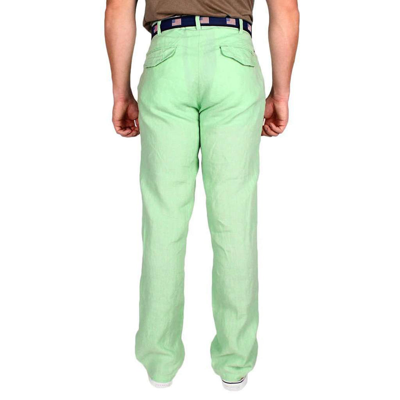 "Lighthouse Linen Pants in Seafoam Green (32"" inseam) by Castaway Clothing - FINAL SALE"