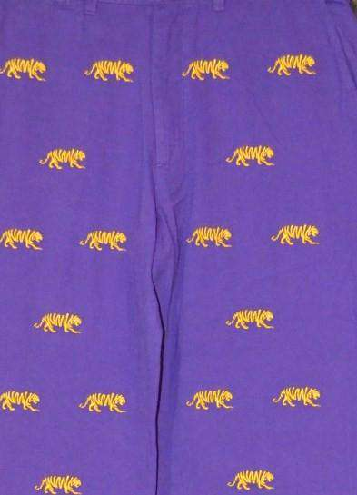 LSU Stadium Pant in Purple by Pennington & Bailes