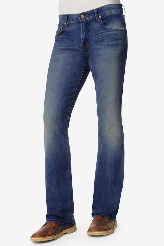 Men's Pants - Luxe Performance Brett Modern Bootcut Jeans In Pale Ale By 7 For All Mankind - FINAL SALE