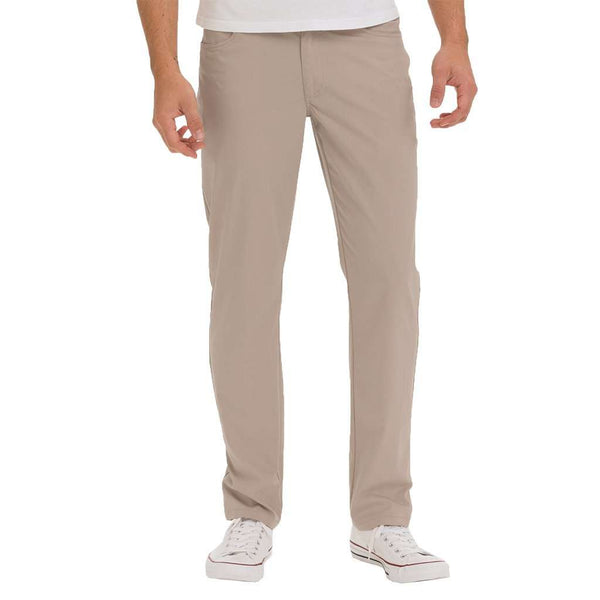 Men's Pants - Marin Prep-Formance Pant In Light Khaki By Johnnie-O