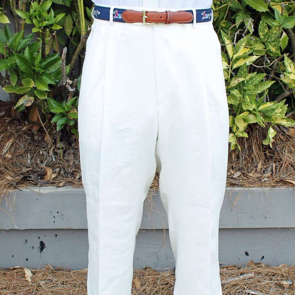 f161bbb0 Men's Pants - Rugby Pleated Pant In White Linen By Country Club Prep ...