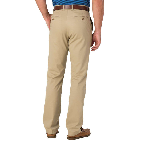 Men's Pants - Skipjack Classic Fit Pant In Sandstone Khaki By Southern Tide