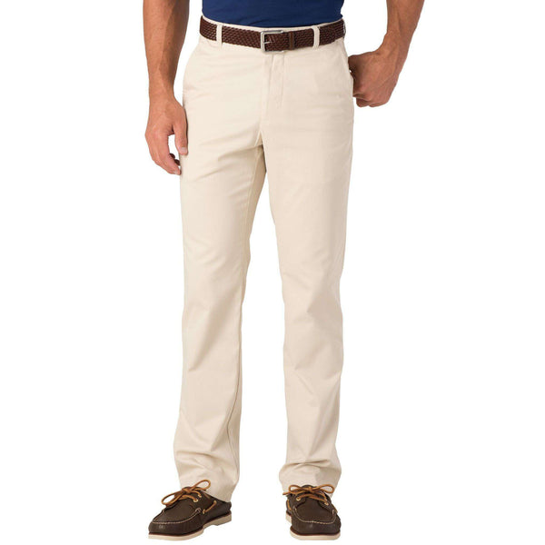 Men's Pants - Skipjack Classic Fit Pant In Stone By Southern Tide